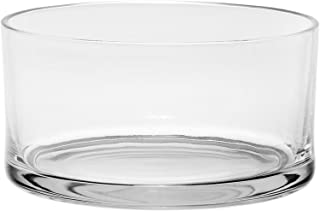 #1 High Quality Large Glass Round Salad Bowl - Serving Dish - 120 Oz. Clear