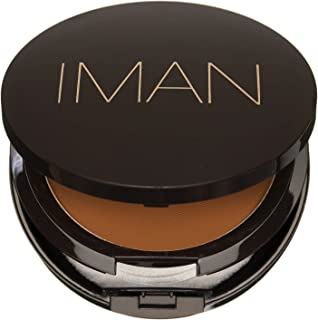 IMAN Cosmetics Luxury Pressed Powder, Dark Skin, Earth Medium
