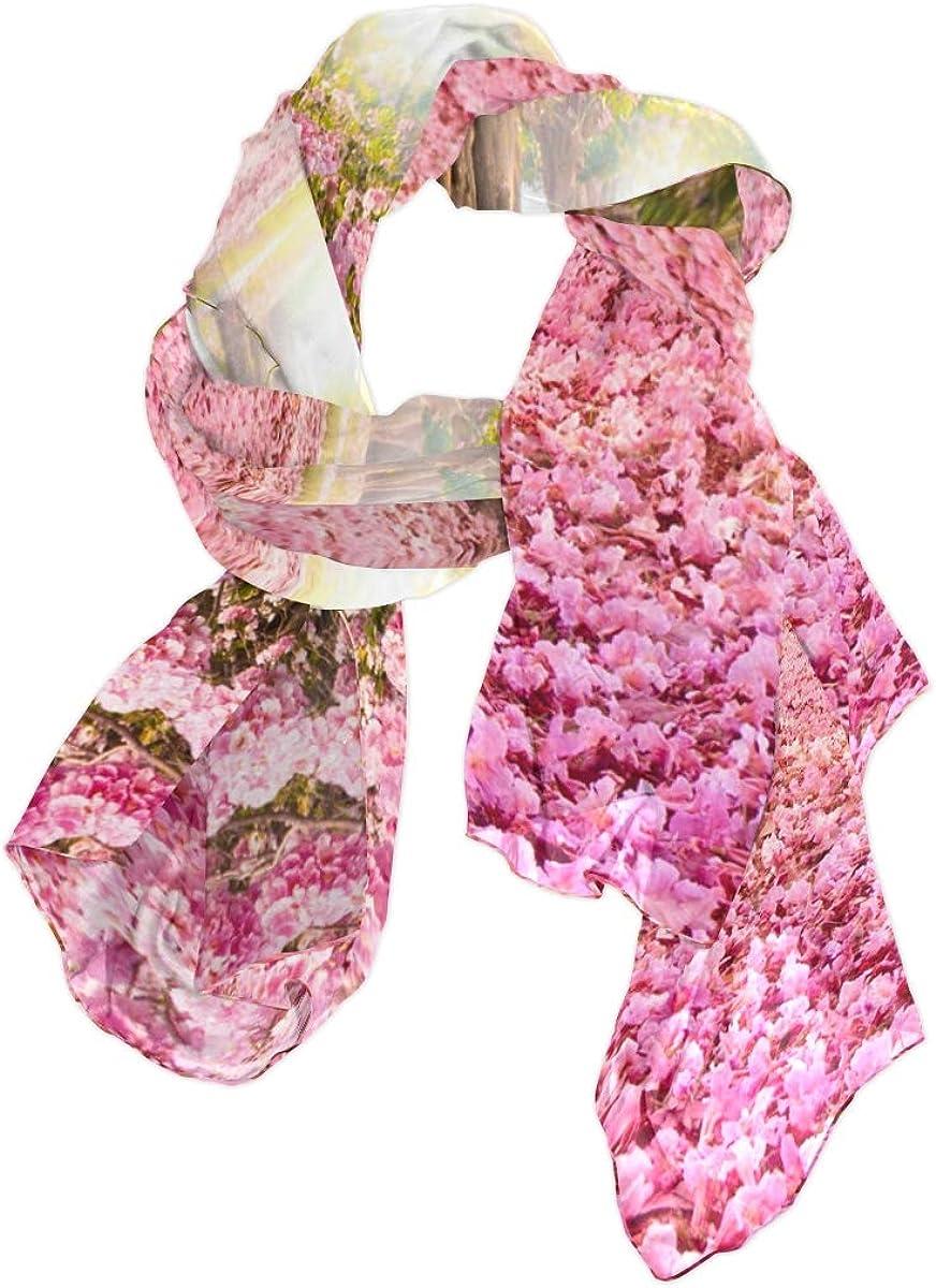 AUUXVA Fashion Scarf Floral Flower Japan Cherry Blossom Tree Long Lightweight Sunscreen Scarf Shawl Wrap Muffler Neckerchief for Women Men
