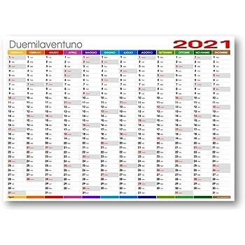 XXL Calendario da parete/Pianificatore annuale 2021 – Formato DIN