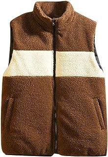 Outtop(TM) Coat for Men,Lastest Outwear Jacket,Men's Autumn Winter Fashion Stripe Splicing Keep Warm Waistcoat Vest Top Coat, Casual Cotton Overcoat for Winter Party