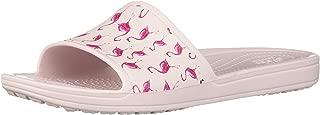 Crocs Women's Sloane Seasonal Graphic Slide Sandal, Flamingo/Barely