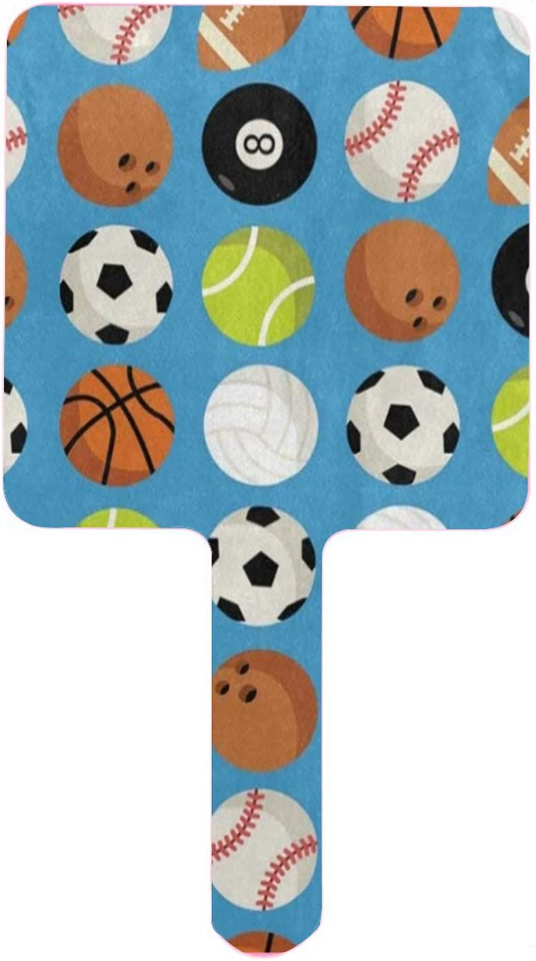 Hand Mirror Soccer Basketball Baseball Some reservation Safety and trust Football Handhel American