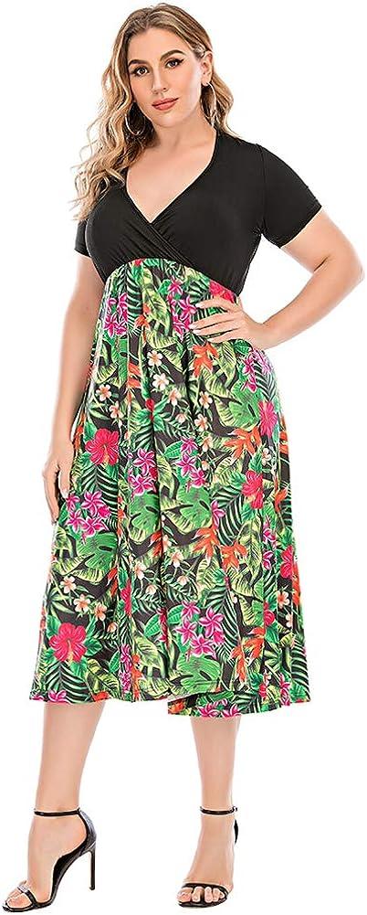 Asome Fit Women's Plus Size Casual Swing Dress