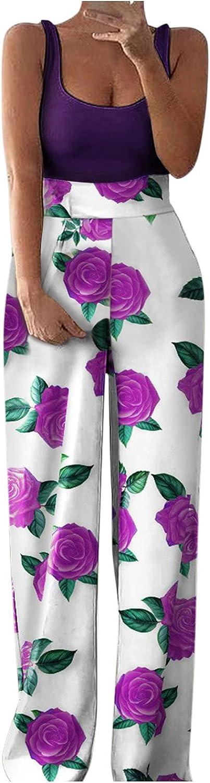 Women Jumpsuit Playsuit Romper Wide Leg Overalls Sleeveless Casual Loose Harem Pants Elegant Solid Color Pantsuit