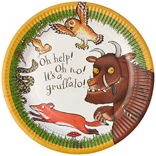 Talking Tables Gruffalo-Pappteller, bunt, 23 cm, 12 Stück