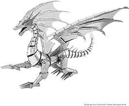 Metal Earth icx023502820Silver Dragon construcción Juguete