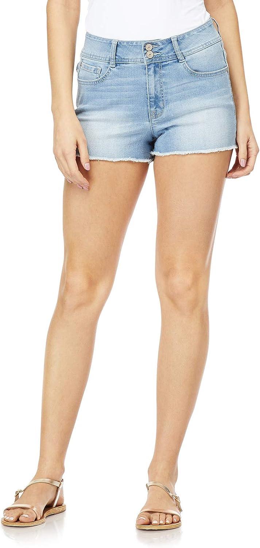 WallFlower Women's Juniors High Rise Flirty Curvy Shorts