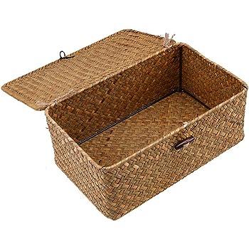 ARPAN Cesta de almacenaje, Color, Cuerda de Papel Blanca, Small-W26xD19xH11cm: Amazon.es: Hogar
