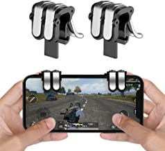 EMISH Mobile Game Controller Gamepad Trigger Aim Button L1R1 L2 R2 Shooter Joystick for iPhone Android Phone Game Pad Accesorios (Black)
