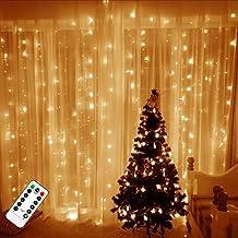 TAOPE USB-gordijnlichten, waterdicht, 300 leds, 3 meter, outdoor en indoor decoratie met afstandsbediening, voor Kerstmis,...