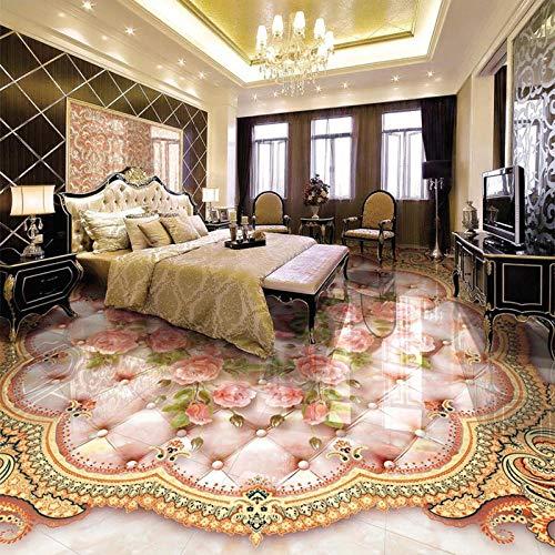 Paquete suave de estilo europeo, baldosas de mármol, papel tapiz mural para sala de estar, PVC, autoadhesivo, resistente al agua-200 * 140 cm