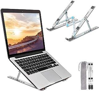 Bansga Laptopstativ, bärbar bärbar bärbar bärbar datorkylning skrivbordshållare, justerbart stativ för bärbar dator, alumi...