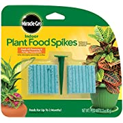 Miracle-Gro Indoor Plant Food Spikes, Includes 48 Spikes - Continuous Feeding for all Flowering and Foliage Houseplants - NPK 6-12-6, Pack of 1