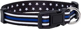 Native Pup Thin Blue Line Dog Collar- Stars