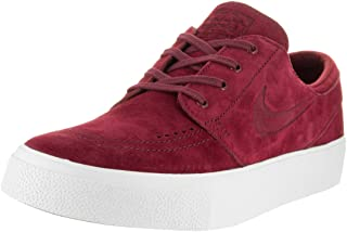 Men's Zoom Stefan Janoski Prem Ht Team Red/White Low Top Suede Skateboarding Shoe - 11M