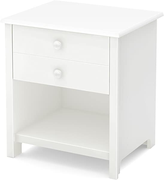 South Shore Little Smileys 1 Drawer Nightstand Pure White
