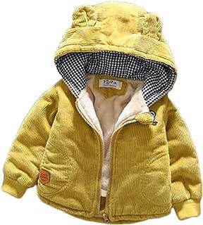 [ジャング] ベビーコート ボーイズ コーデュロイ 裏ボア ジャケット 子供服 ブルゾン 男の子 防寒コート 裏起毛 綿入れコート アウター ジャンパー 可愛い