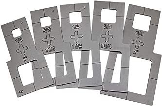 Plasma Stencil - Square Cutter Guide - 5 pc. Kit - .430
