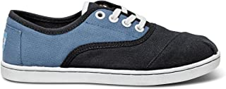 TOMS Blue and Black Block Youth Cordones 10001437