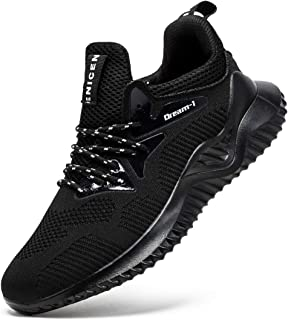 Mens Black Shoes Athletic Workout Shoes Wide Casual Fashion Sneakers Lightweight Trail Black Shoes for Men
