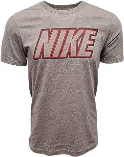 Men's Italic Graphic Logo Crewneck T-Shirt