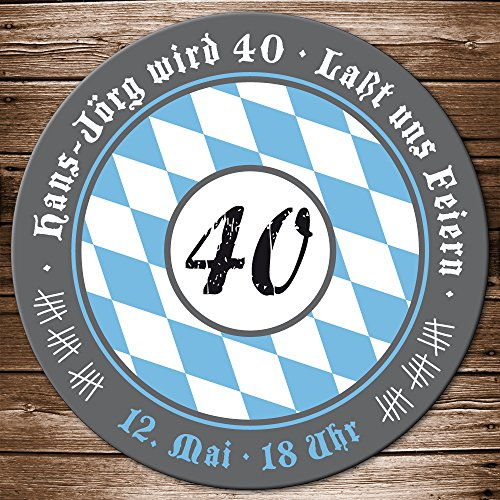 100 Bierdeckel als Einladung Geburtstagseinladung mit Ihren Daten; Motiv Bayern, Oktoberfest, Bieruntersetzer, Bierfilz Karte originelle individuelle Einladungskarte, Oktoberfest, Wiesn, Biergarten