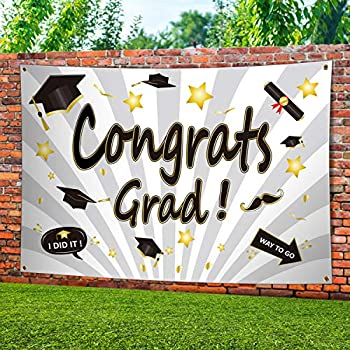 ERKOON Large 71.6 x 48.4 in Graduation Party Banner
