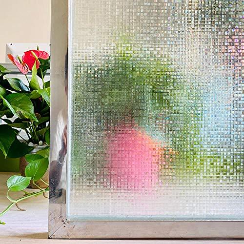 LMKJ Película de Ventana de Mosaico de Color 3D protección de privacidad estática Pegatina de Vidrio Vinilo Autoadhesivo calcomanía de Ventana A57 30x200cm