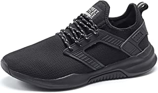YIRUIYA Mens Running Shoes Walking Sport Sneakers Lightweight Breathable Gym Athletic Shoes for Men Black