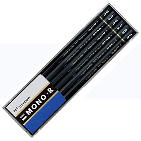 トンボ鉛筆 鉛筆 MONO モノR 2B 1ダース プラケース MONO-R2B