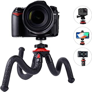 Flexible Camera Tripod Vlogging Bendable Travel Octopus Gorilla Portable Mini Tripods for DSLR Camera GoPro Smartphone Cell Phone Actioncam Webcam Camcorder Canon GX7 Nikon Sony Phone Xs Samsung Stand