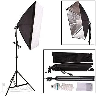 Abeststudio 135W Continuous Lighting Kit 50x70cm Softbox Soft Box Photo Studio 5500K Soft Box Kit -Softboxes + Fully Adjustable Aluminum Alloy Light Stand+135W Photo Studio Light Bulbs