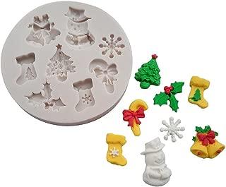 KingWo 3D Christmas Fondant Cake Chocolate Sugarcraft Mold Xmas Silicone Baking Mold