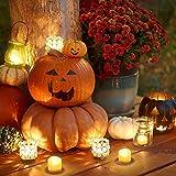 AMIR LED Kerzen, 12 LED Flammenlose Kerzen, Weihnachten LED Teelichter, Elektrische Teelichter Kerzen für Halloween, Weihnachten, Party, Bar, Hochzeit (Flicker Gelb) - 7