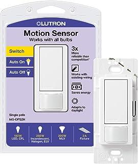 سوئیچ سنسور Lutron Maestro ، 2A ، بدون خنثی لازم ، تک قطبی ، MS-OPS2-WH ، سفید