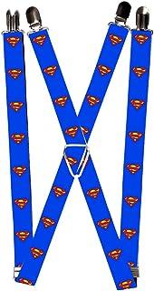Buckle-Down Suspenders-Superman Shield Blue