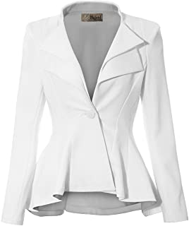 59015654748 HyBrid   Company Women Double Notch Lapel Sharp Shoulder Pad Office Blazer