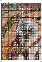 HMTTKPRO刺繡クラフトキット(11CTスタンプクロスステッチキットカラーDIYクロスステッチ用品大人初心者子供針仕事ニードルポイントギフトキット家の装飾工芸品16x20インチ