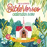 Illustrated Bible Verses Wall Calendar 2020