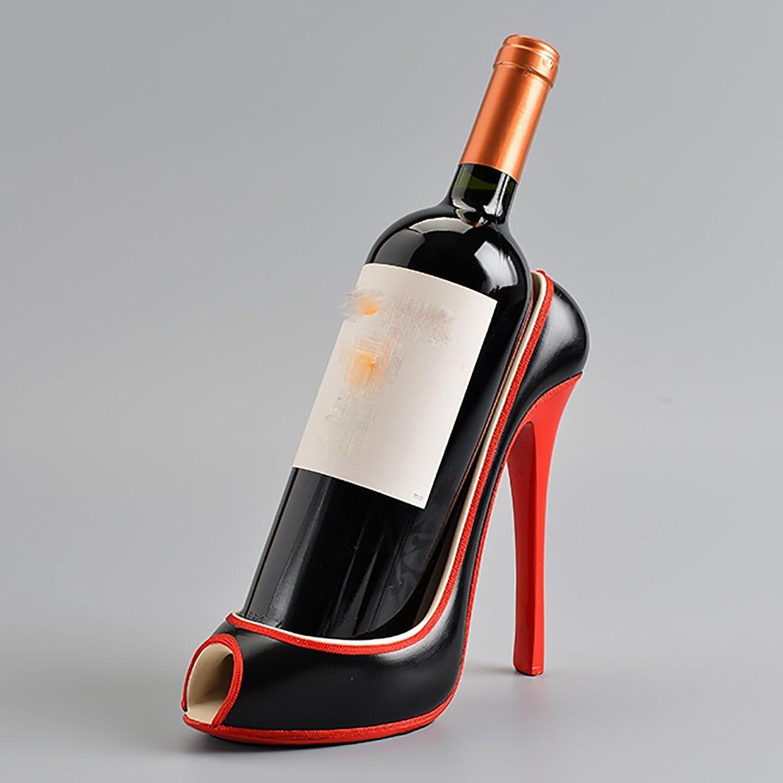 Centro comercial profesional integrado en línea. Vid Estante del Vino Estante del Vino Vino Vino de los Tacones Altos decoración Creativa del Estante del Vino de la Sala de Estar   24  20CM Armario para vinos (Color   Negro)  estar en gran demanda