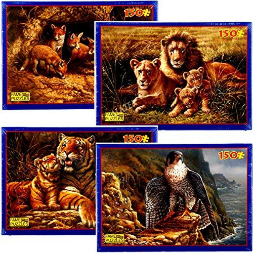 Fame Puzzles Famille Lions 150 pièces 300x440mm Lion
