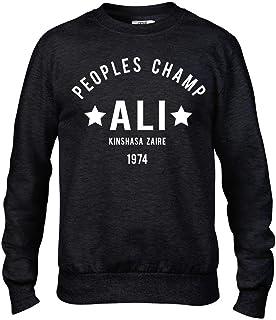 Ali The Greatest Rumble in The Jungle Boxing Premium Men's Black Crew Sweatshirt