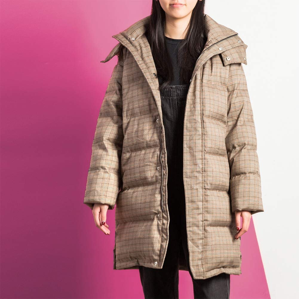 Down Jacket Plaid Female Long Section Over The Knee 2019 New Korean Version Of The Tide Winter Fashion Party To Overcome The Jacket Amazon Co Uk Kitchen Home