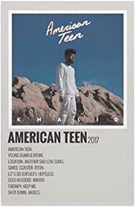KHALID - AMERICAN TEEN 2017 Canvas Poster Bedroom Decor Sports Landscape Office Room Decor Gift Unframe-style112×18inch(30×45cm)