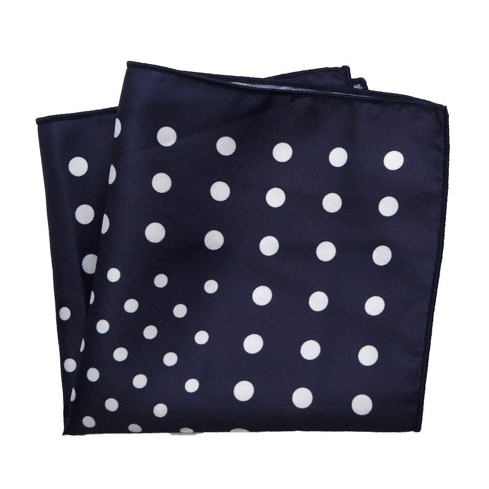 9.5 x 9.5 inch Mens Pocket Squares Cotton Striped Modern and Elegant Formal Suits Pocket Square