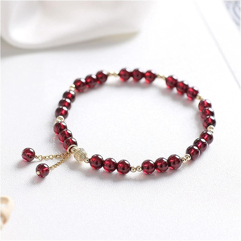 5 ☆ very popular mimiliy Bracelet Natural Garnet 14k Filled El Paso Mall Lu Crystal Gold Stone