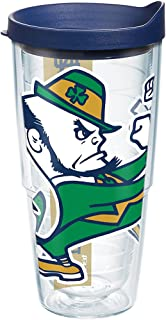 Tervis 1277402 Notre Dame Fighting Irish Leprechaun Colossal Tumbler with Wrap and Navy Lid 24oz, Clear