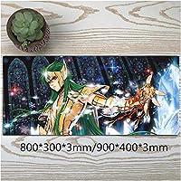 超大型聖闘士星矢マウスパッド高級感マウスパッドおしゃれ滑り止め防水軽減疲労水洗耐久性ゲーミングオフィス最適ゲーミングマウスパッド800*300*3mm/900*400*3mm-イメージB_800*300*3mm