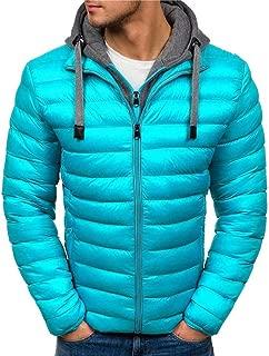 Howely Men Hood Padded Cotton Puffer Two Winter Outwear Jacket